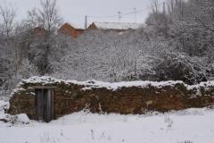 Huertos nevados (Fotografía de Mª  Jesús García)