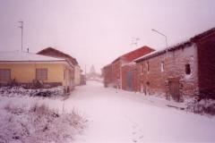 Nevando con ventisca
