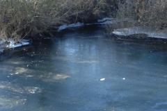 Río helado en el año 2012