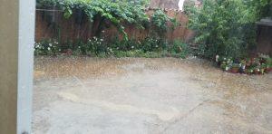 Lluvia intensa acompañada de granizo en Maire.